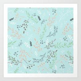 Light And Lovely Spring Floral Garden Pattern Art Print