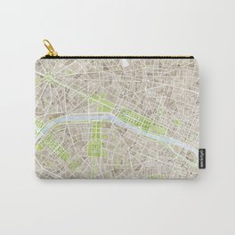 Paris SGB Watercolor Map Carry-All Pouch