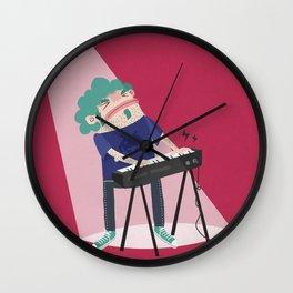Keyboardist Wall Clock