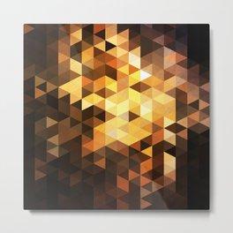 Triangle Design Chocolate Metal Print