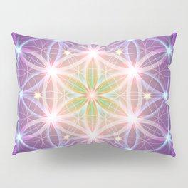 Purple Flower of Life Pillow Sham