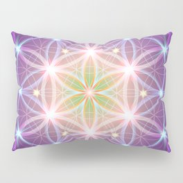 Purple Flower of Life Pillow Sham