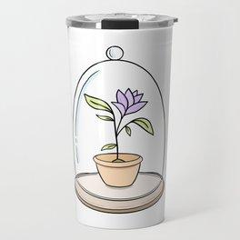 Bel jar with purple flower Travel Mug