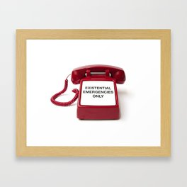 Existential Emergency Phone Framed Art Print