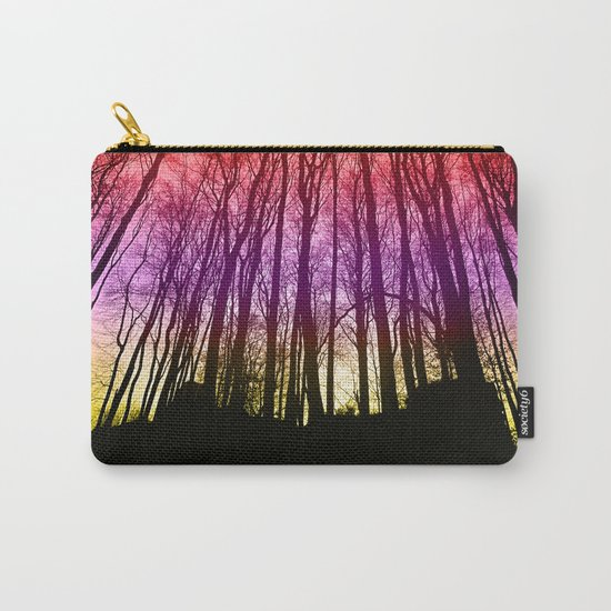 Colorful forest silhoutte Carry-All Pouch