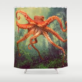 Octo Forest Shower Curtain
