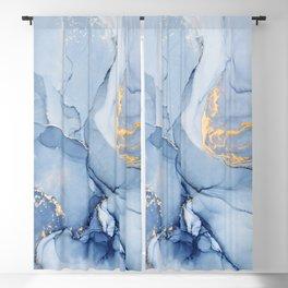 Abstract 1 Blue & Gold Art Print By LandSartprints Blackout Curtain