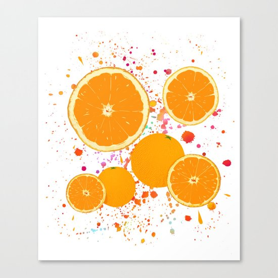 juicy orange Canvas Print