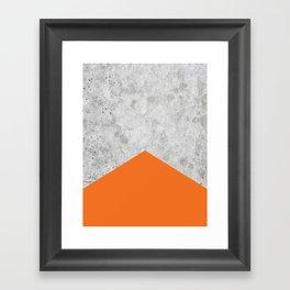 Concrete Arrow Orange #118 Framed Art Print
