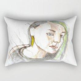 watercolor girl Rectangular Pillow