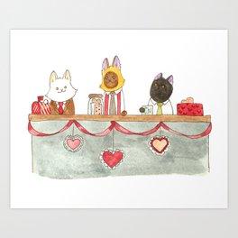Valentine's Desk Art Print