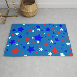 Red White and Blue Stars Rug