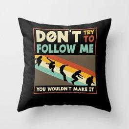 Vintage Parcour Freerunning Saying Throw Pillow