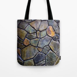 Mosaic Stone Wall Tote Bag
