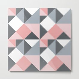 Beautiful Geometric Design Pattern Metal Print