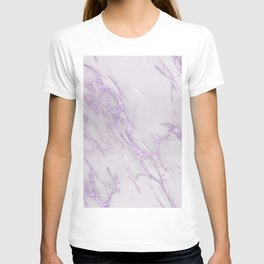 Marble Love Purple Metallic T-shirt