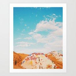Salvation Mountain, California Art Print