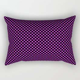 Black and Dazzling Violet Polka Dots Rectangular Pillow