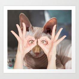 Ugly Cat Eyes Art Print