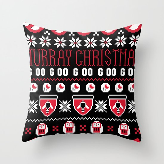 Murray Christmas Sweater Throw Pillow