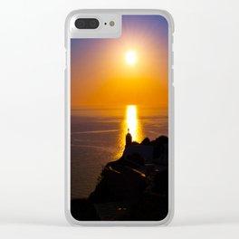 Oia sunset i Clear iPhone Case