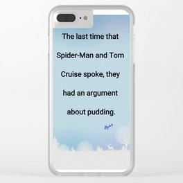Tom Cruise/Spiderman Clear iPhone Case