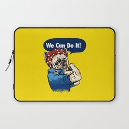 We Can Do It French Bulldog Laptop Sleeve