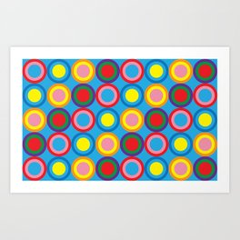 Colourful Eye Candy Art Print