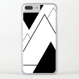 Minimal Mountains Clear iPhone Case