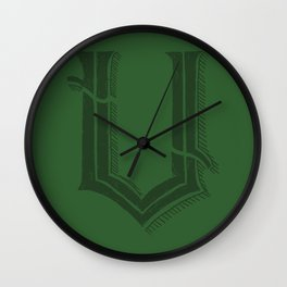 The Letter V Wall Clock