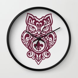 OrnateOwl Wall Clock