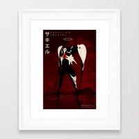 neon genesis evangelion Framed Art Prints featuring Neon Genesis Evangelion - Angel 03: Sachiel by MNM Studios