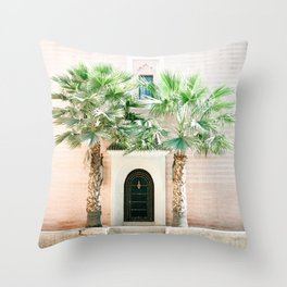 "Travel photography print ""Magical Marrakech"" photo art made in Morocco. Pastel colored. Throw Pillow"