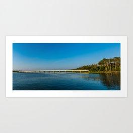 Chincoteague Island Bridge Art Print