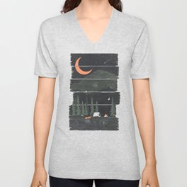 Wish I Was Camping... Unisex V-Neck