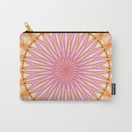 Mandala in pink, yellow and orange tones Carry-All Pouch