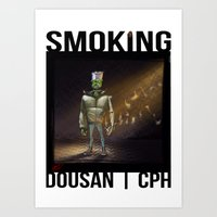 Smoking_01 Art Print