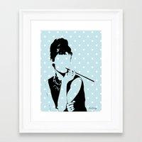 hepburn Framed Art Prints featuring Hepburn by Kimberly Whaley