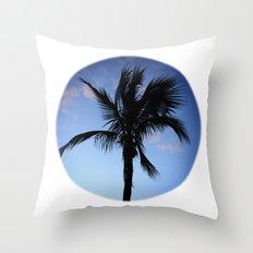 Palm at Sunset Throw Pillow