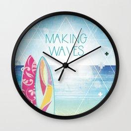 Making Waves - Sunset Wall Clock