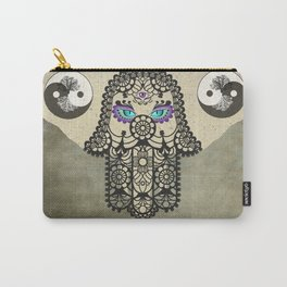 Elephant Hamsa Tree Ying Yang A403 Carry-All Pouch