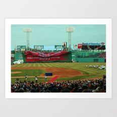 2014 Red Sox Opening Day - 2013 World Series Champions! Art Print