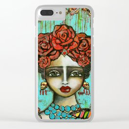 FRIDA PAINTING BAD ASS Clear iPhone Case
