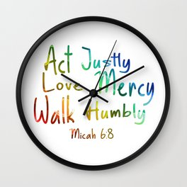 bible art Wall Clock