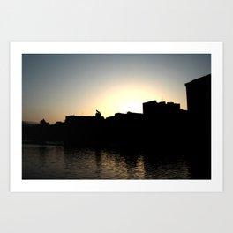 Skyline Bilbao Art Print