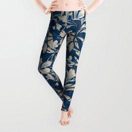 Celery - Classic Blue Art Nouveau Leggings