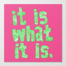 what it is pink square Canvas Print
