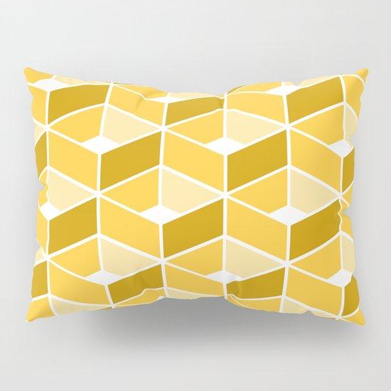 Simple Pattern Yellow Pillow Sham