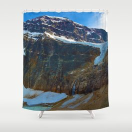Mt. Edith Cavell & Angel Glacier in Jasper National Park, Canada Shower Curtain