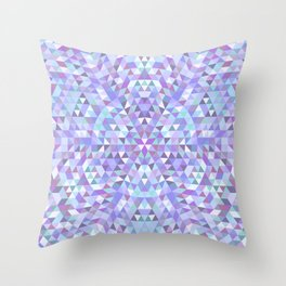 Cold triangle mandala Throw Pillow